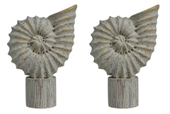 Seashell Finial - 3 Finishes