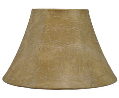 Softback Bell Lampshade, Faux Leather, 12-inch Bottom Diameter, 7.5-inch Height, Spider