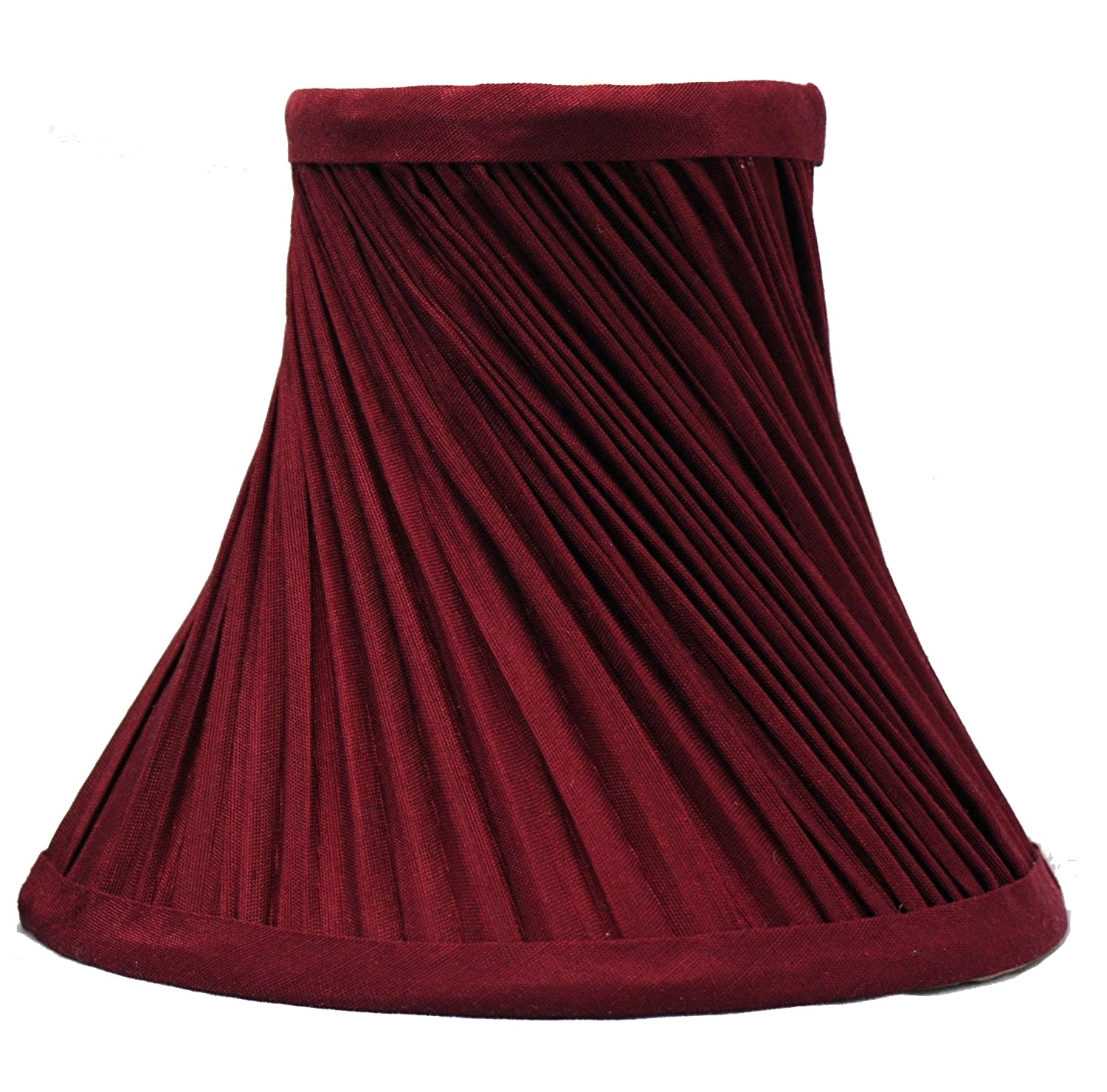 Swirl Pleated 6-inch Chandelier Lamp Shades - 4 Colors