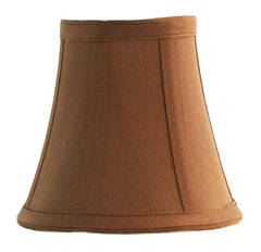 Urbanest Copper Silk Bell Chandelier Lamp Shade, 5-inch, Hardback, Clip On
