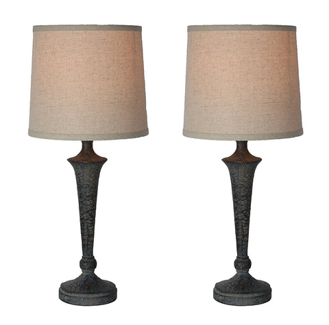 Jacob Table Lamps Set of 2 - Ash Bronze