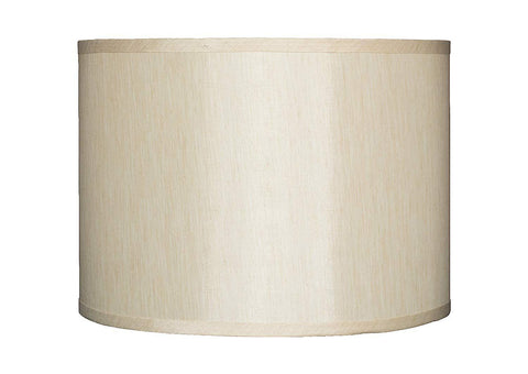 Faux Silk Drum Lampshade, 14-inch By 14-inch By 10-inch, Spider Fitter
