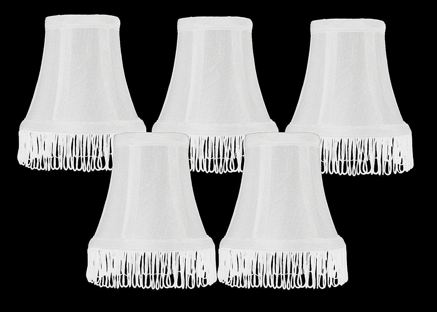 Silk Bell 5-inch Chandelier Lamp Shade with Fringe - 6 Colors
