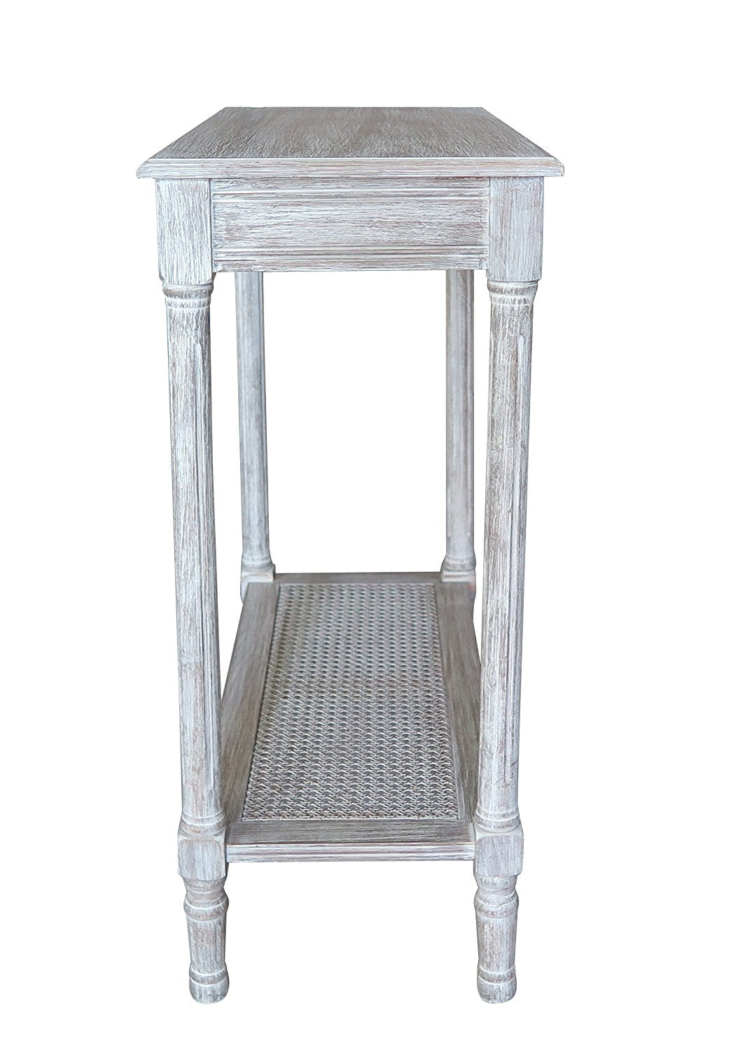 Alexandria Side Table With Rattan Shelf 6 Finishes