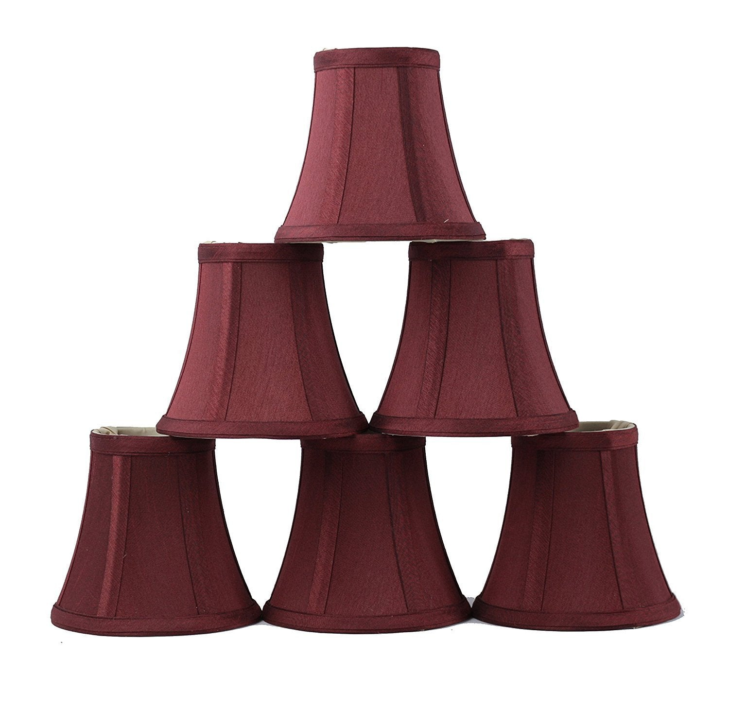 Silk Bell 5-inch Chandelier Lamp Shade - 5 Colors