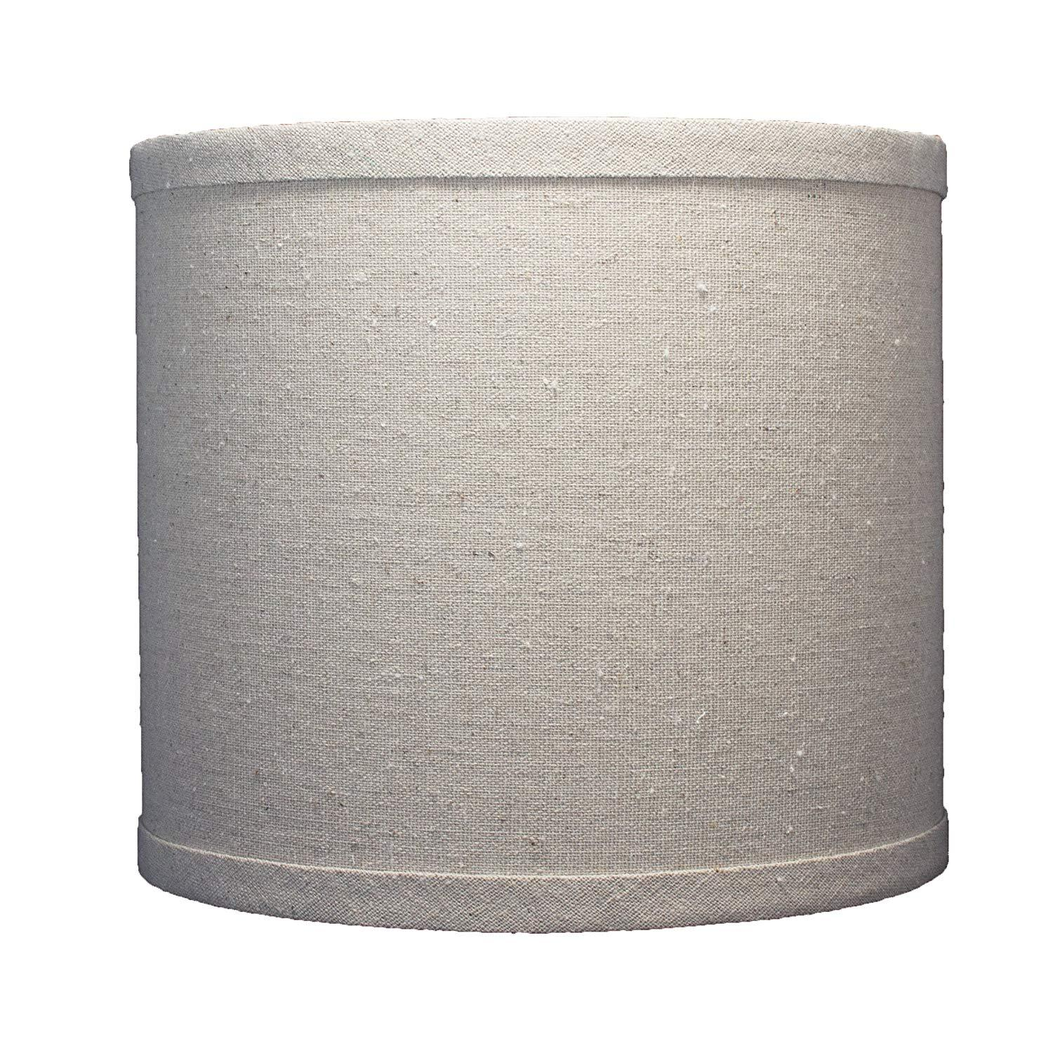 Urbanest Linen Drum Lamp Shade, 8-inch By 8-inch By 7-inch, Spider