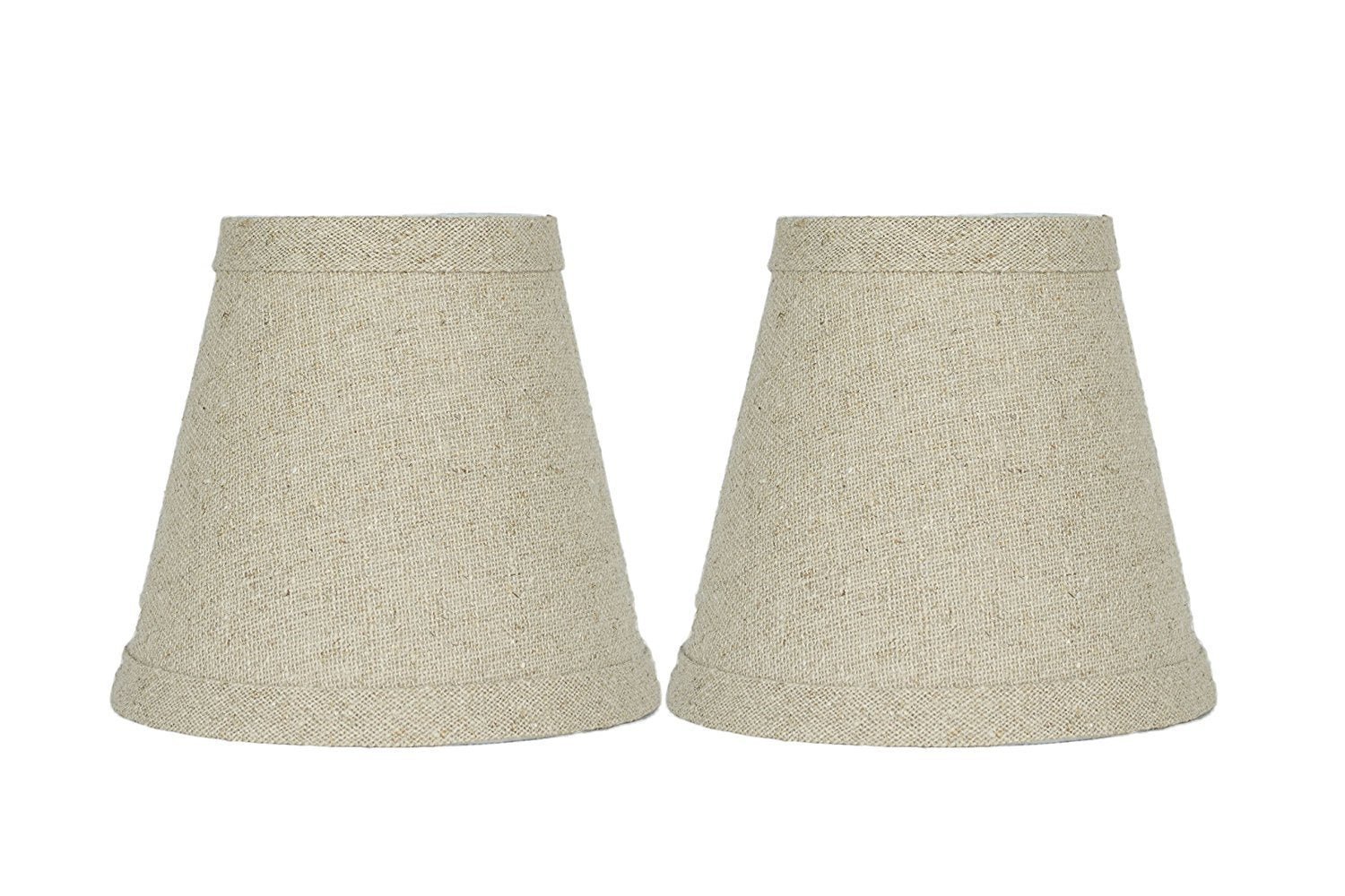 Natural Pure Linen 5 Inch Chandelier Lamp Shade Urbanest