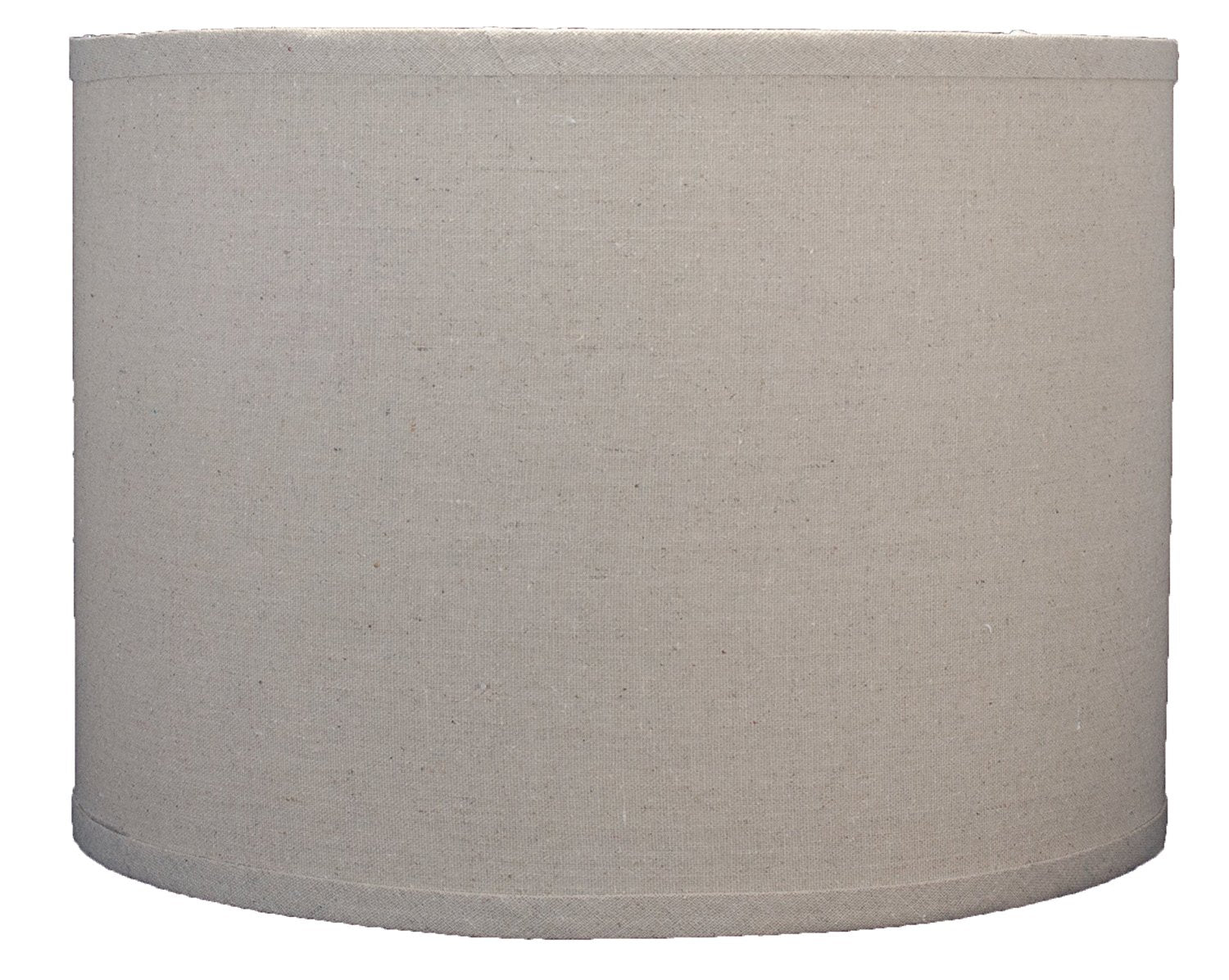 Linen Drum Lamp Shade, 14-inch By 14-inch By 10-inch, Natural, Spider