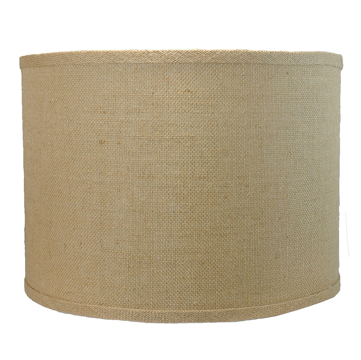 "Burlap Drum Lamp Shade, 14x14x10"", Spider"
