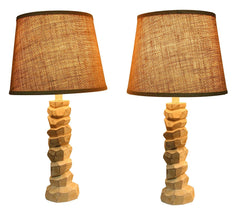 Woodford Table Lamps - Aged Cream