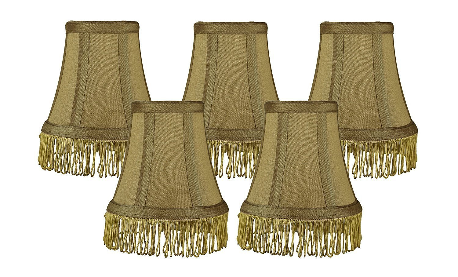 Silk bell 5 inch chandelier lamp shade with fringe 6 colors urbanest silk bell 5 inch chandelier lamp shade with fringe 6 colors aloadofball