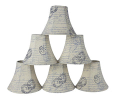 Urbanest Natural Linen Bell Chandelier Lamp Shade, 3-inch by 6-inch by 5-inch, Clip-on
