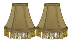 Silk 6-inch Bell with Fringe Chandelier Lamp Shade - 5 Colors