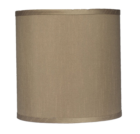 "Faux Silk Drum Lampshade 10"" Diameter - 5 Colors"