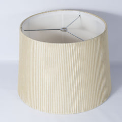 Faux Silk Box Pleated Drum Lampshade, 10-inch By 12-inch By 8.5-inch, Spider Fitter
