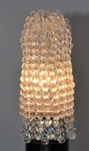 Beaded Light Bulb Cover, Clear