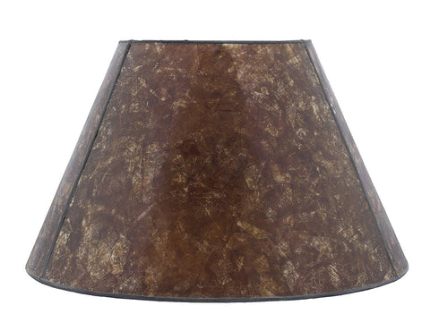 Amber Mica Lampshade, 14-inch Bottom Diameter, 8 1/4-inch Height, Spider Fitter