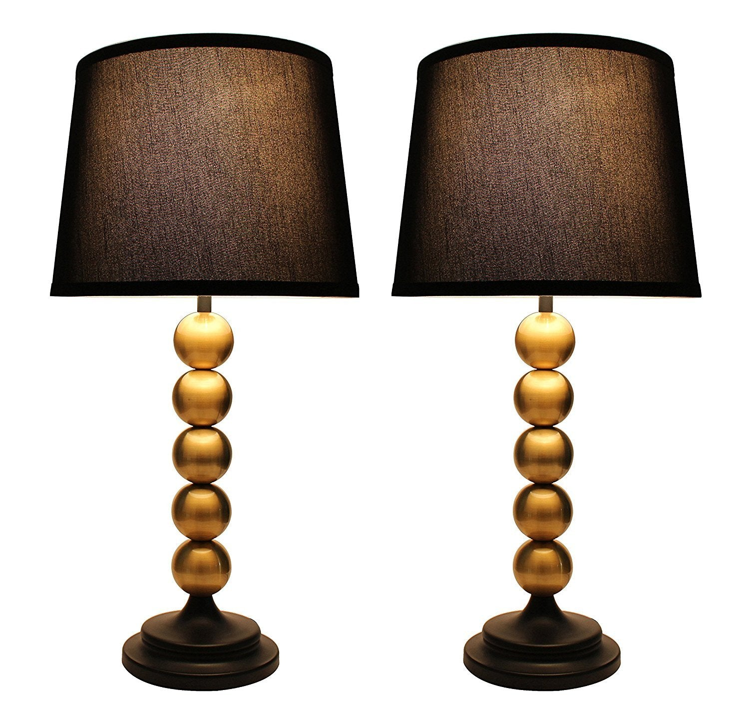 Set of 2 Abbey Table Lamps with Shades
