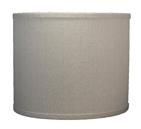 Linen Drum Lamp Shade, 12-inch By 12-inch By 10-inch, Natural, Spider