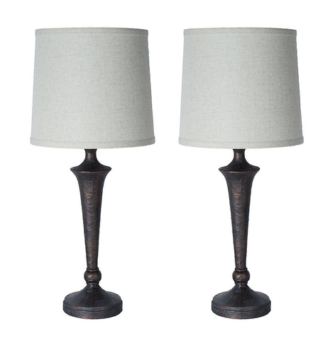 Jacob Table Lamps Set of 2 - Paris Bronze