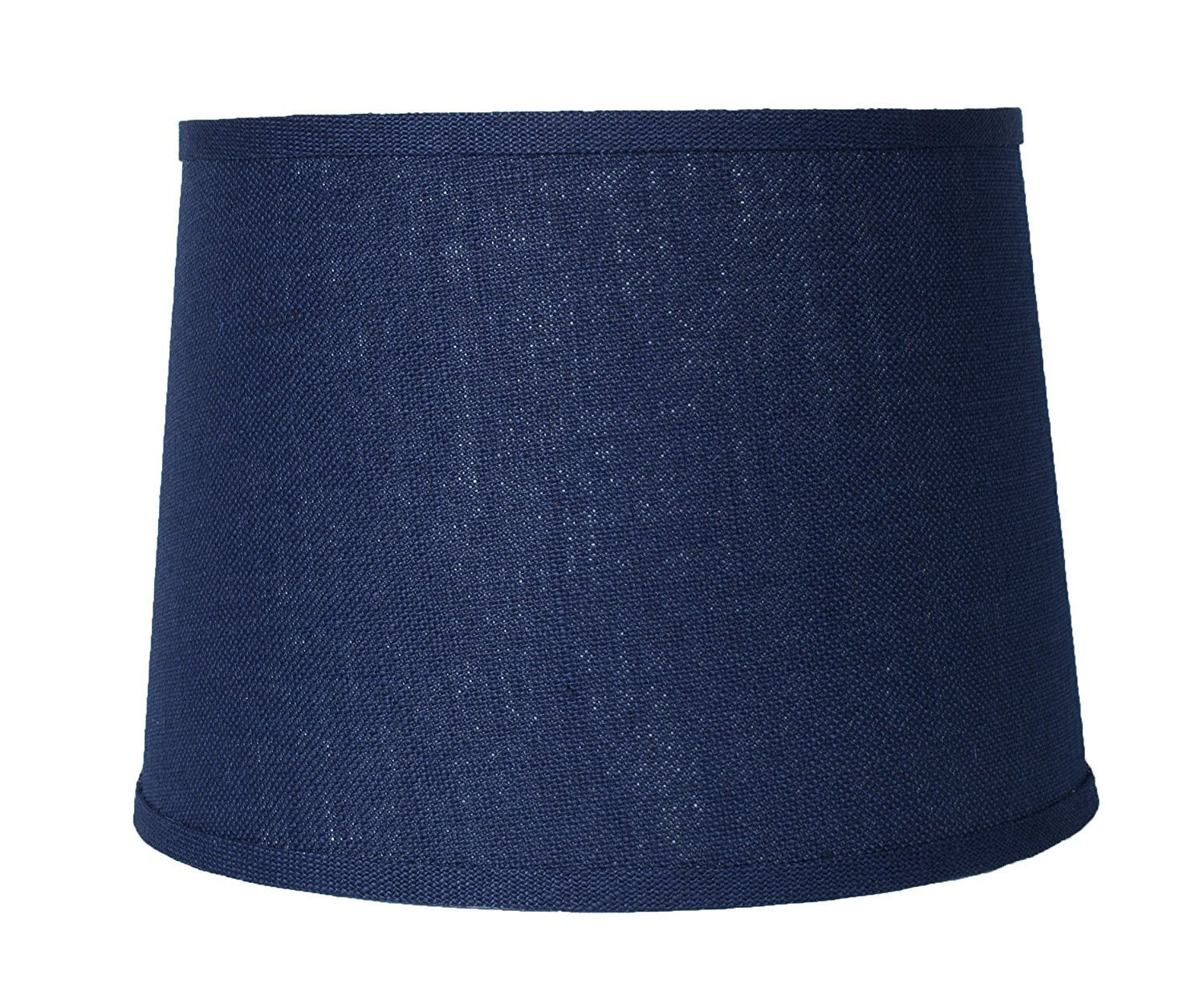 Blue Burlap Drum Lampshade, Spider Fitter