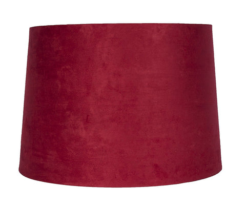 "Suede French Drum 14"" Lampshade - 13 Colors"