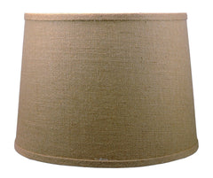 French Drum Lampshade, Burlap, Spider Washer Fitter