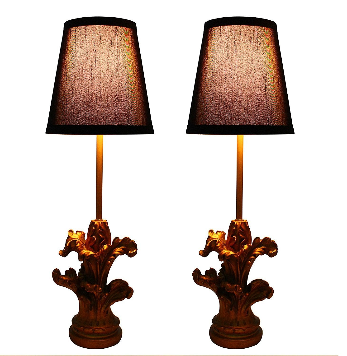 Set of 2 Homestead Mini Buffet Lamps with Shades urbanest