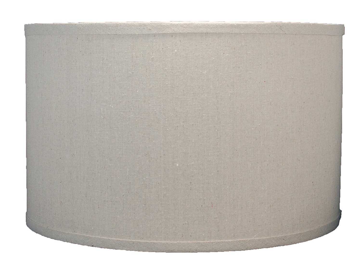 Linen Drum Lamp Shade, 16-inch By 16-inch By 10-inch, Natural, Spider