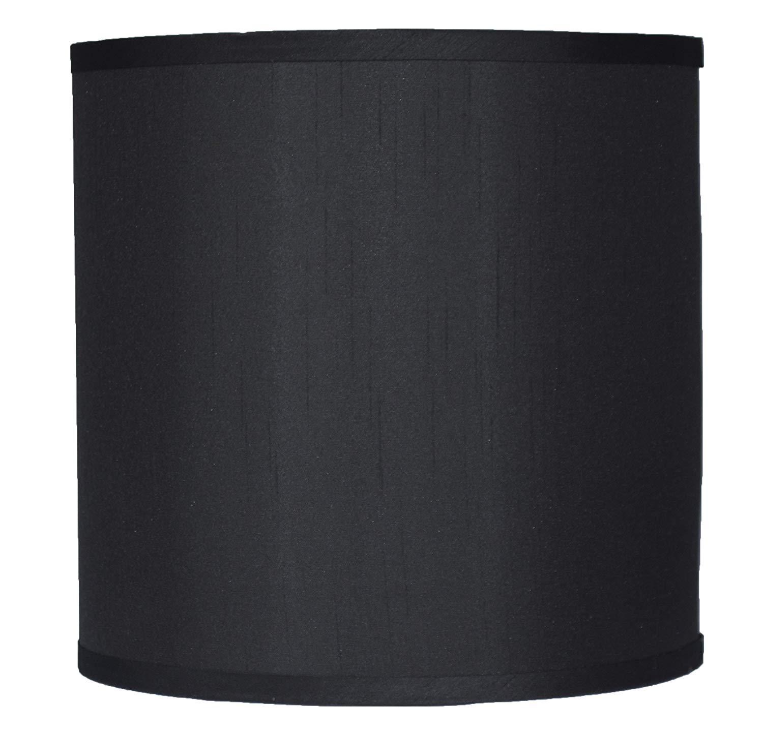 Faux Silk Drum Lampshade - 4 Colors
