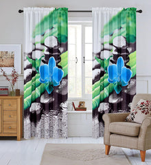Serenity Set of 2 Sheer Curtain Panels - 4 Colors