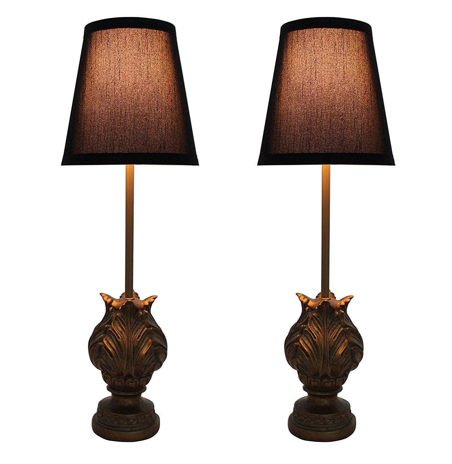 Set of 2 Charlotte Mini Buffet Lamps with Shades