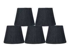 Box Pleated 5-inch Chandelier Lamp Shade - 7 Colors