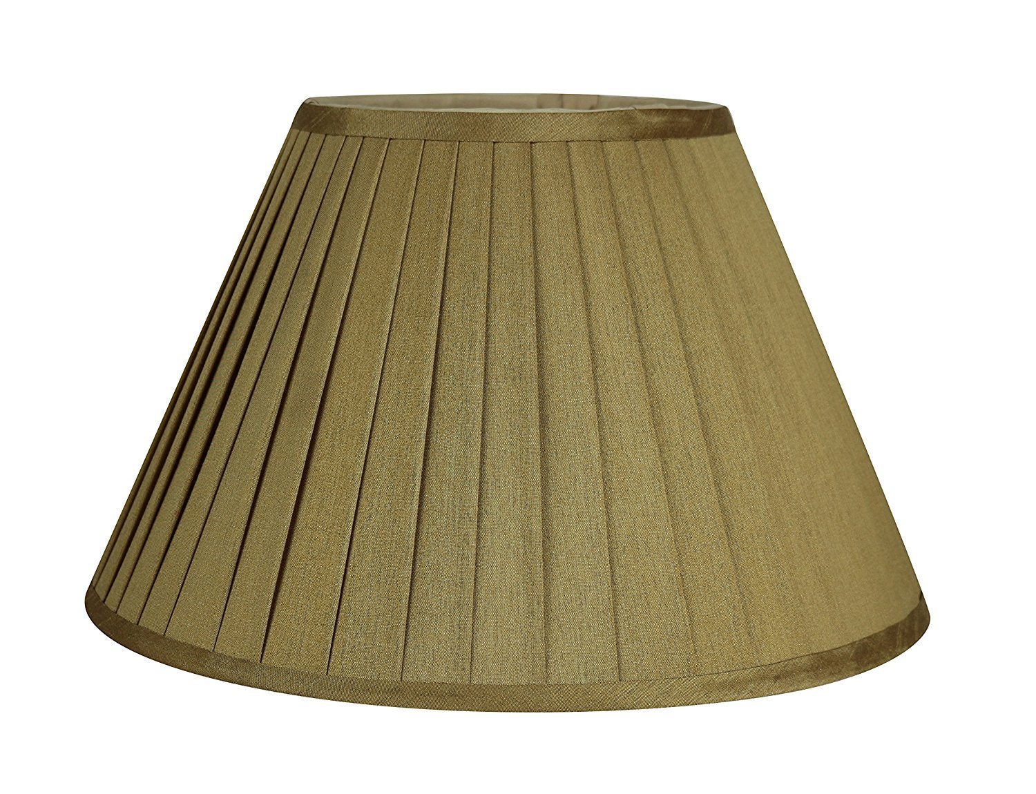 Faux Silk Side Pleat Softback Lamp Shade - 2 Colors