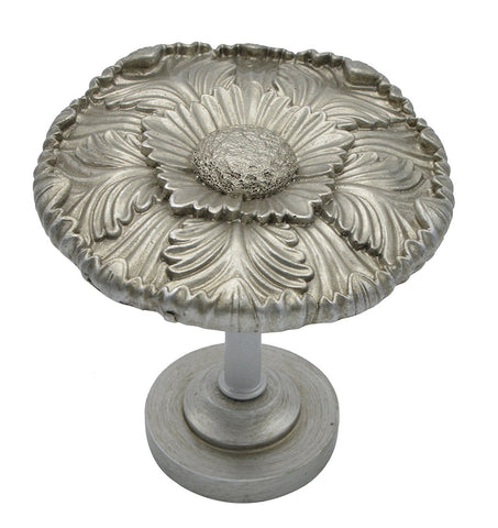 Large Dahlia Medallion Drapery Holdback - 3 Finishes
