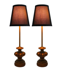 Set of 2 Alma Mini Buffet Lamps with Shades