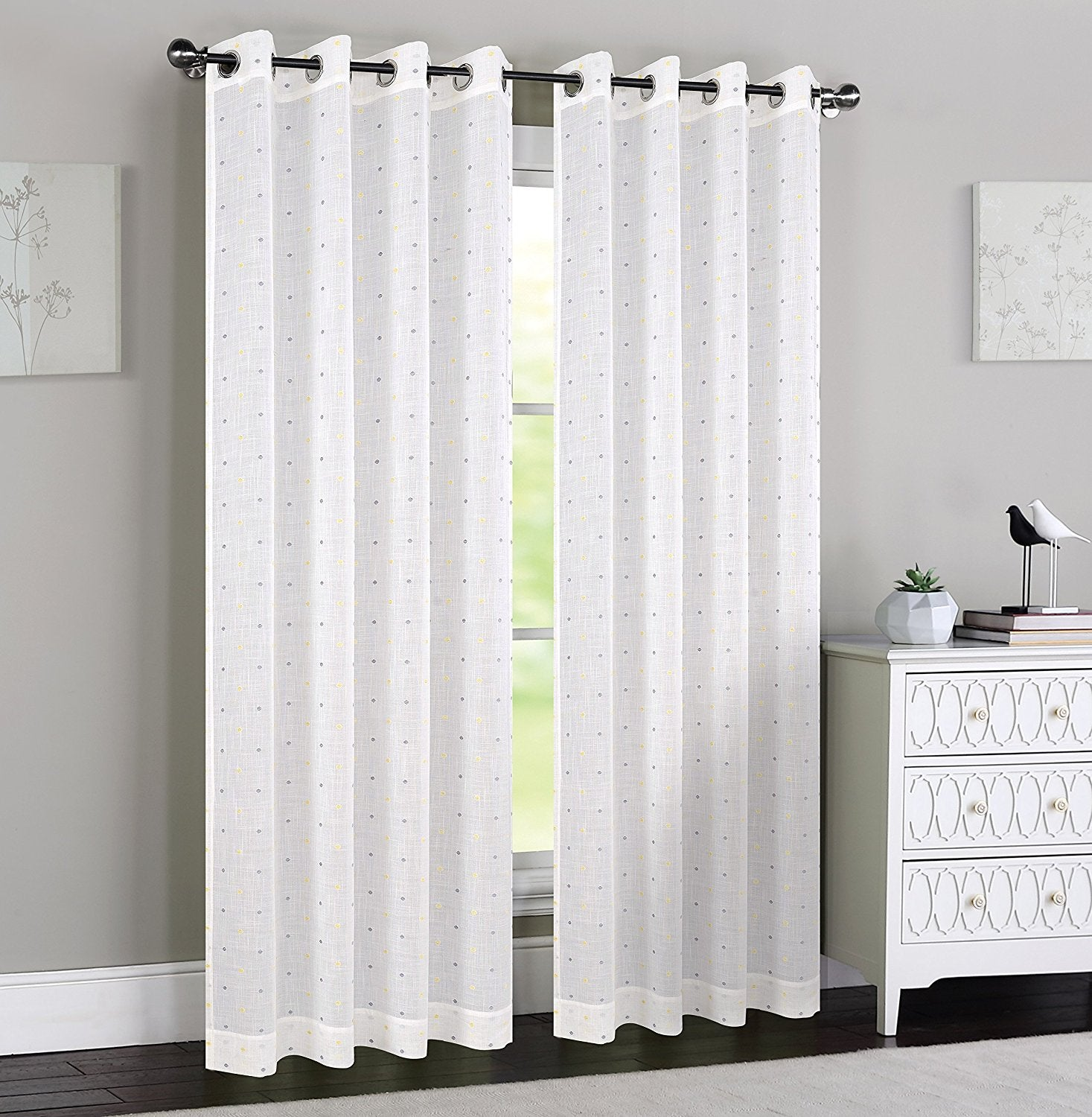Madeline Sheer Curtain Panels with Grommets - 4 Colors