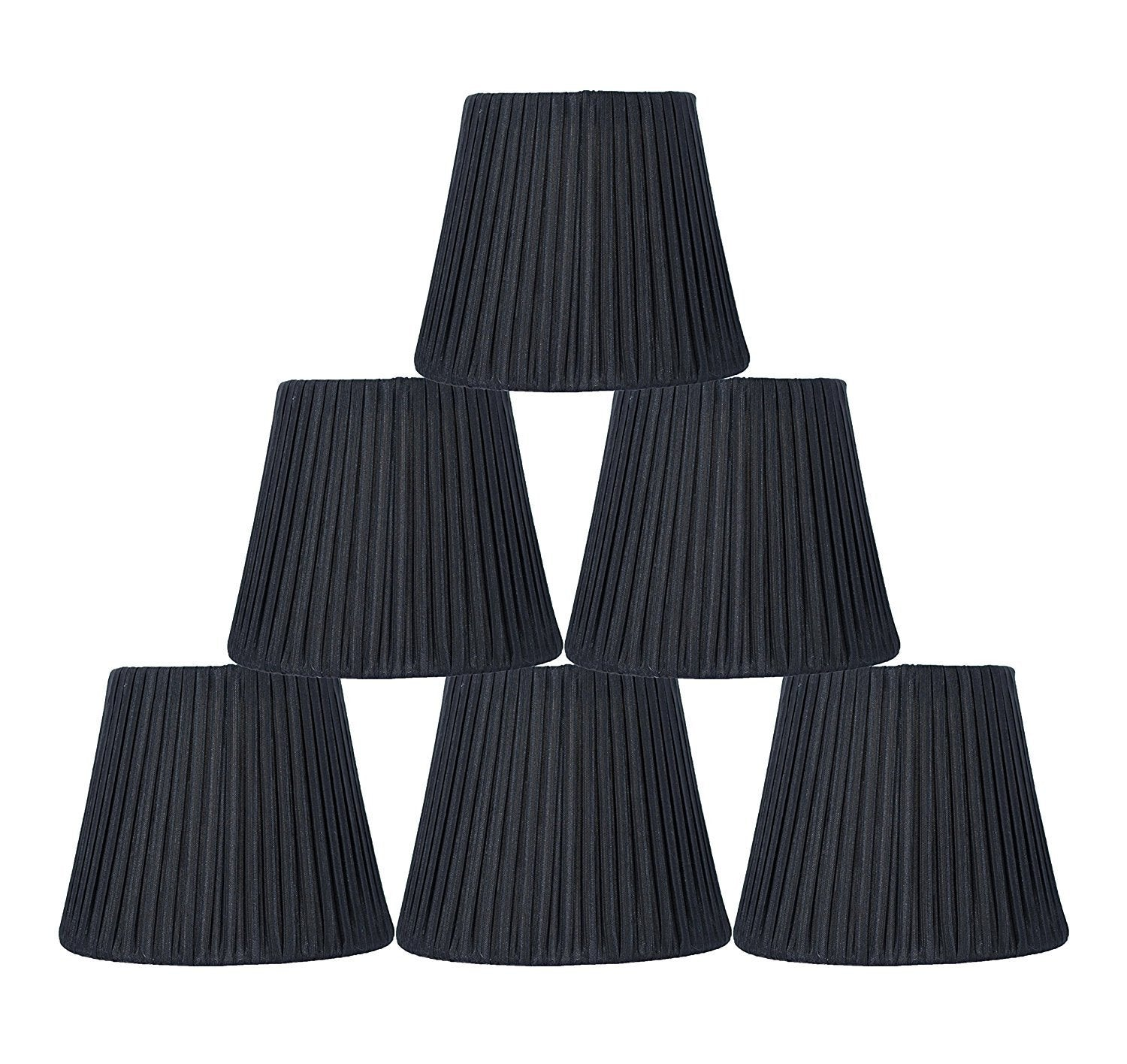 Box Pleated 6-inch Chandelier Lamp Shade -7 Colors