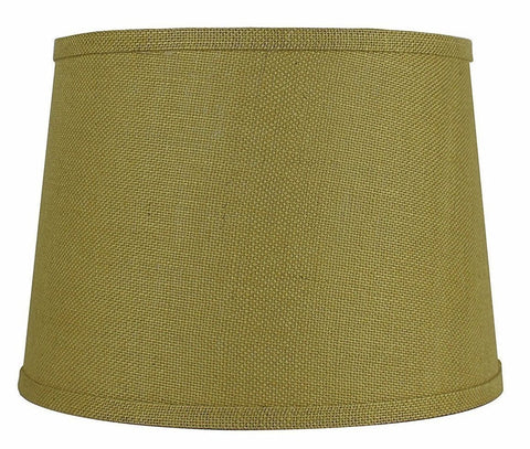 Burlap french drum lampshade 10 colors