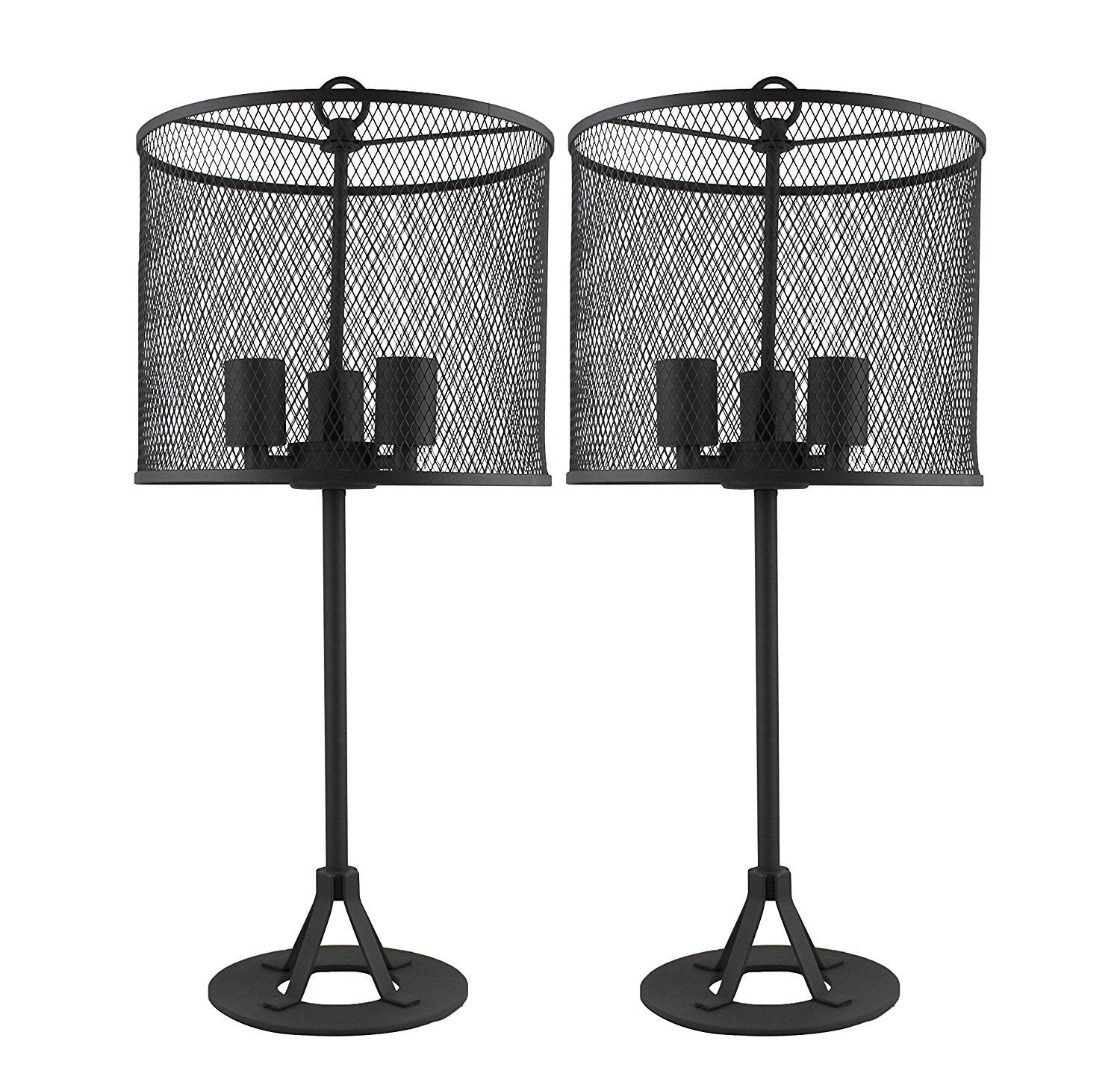 Pullman Table Lamps Set Of 2   Charcoal Grey