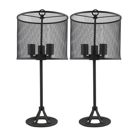 Pullman Table Lamps Set of 2 - Charcoal Grey