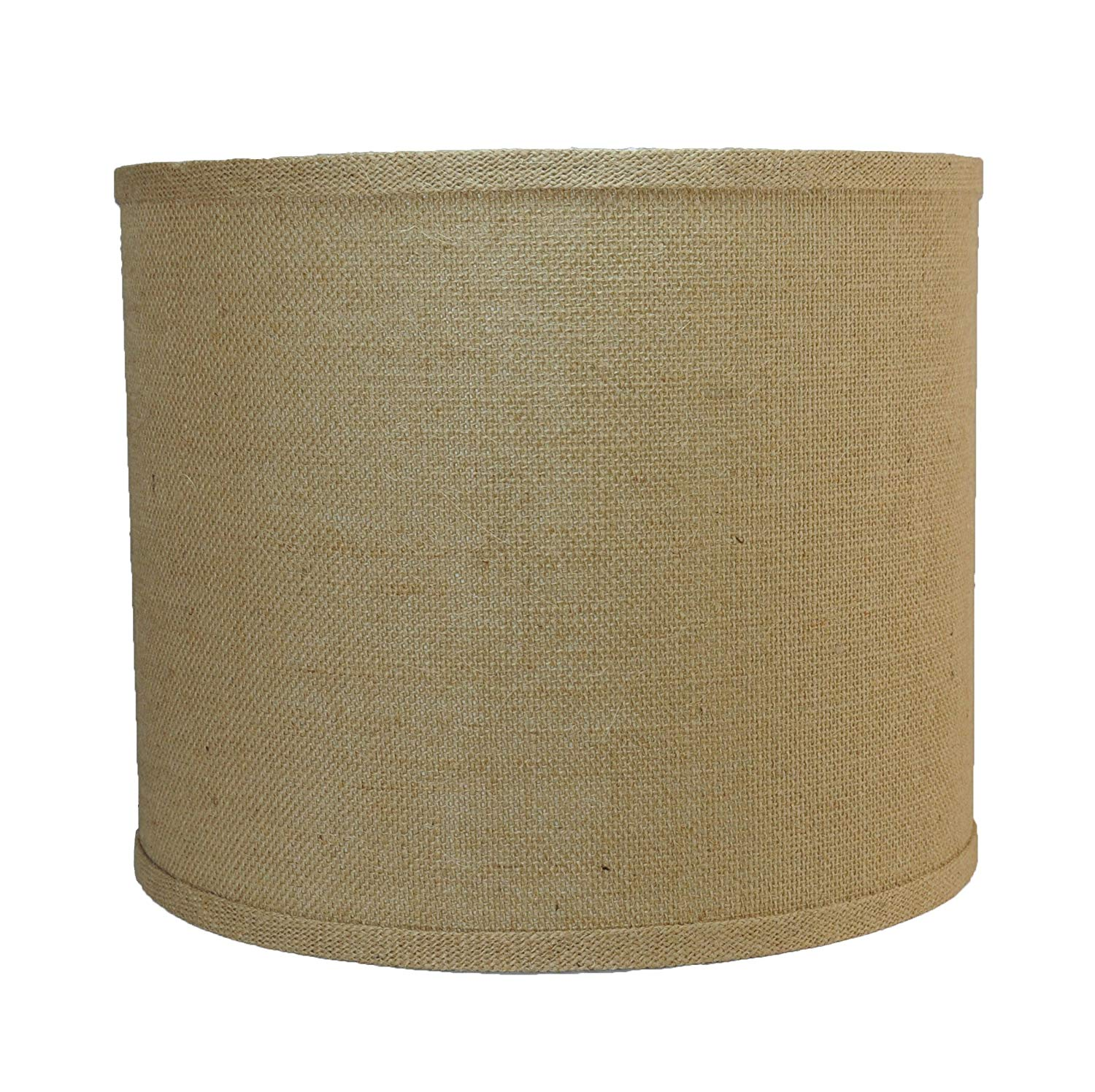 Urbanest Burlap Drum Lamp Shade, 12-inch By 12-inch By 10-inch, Spider