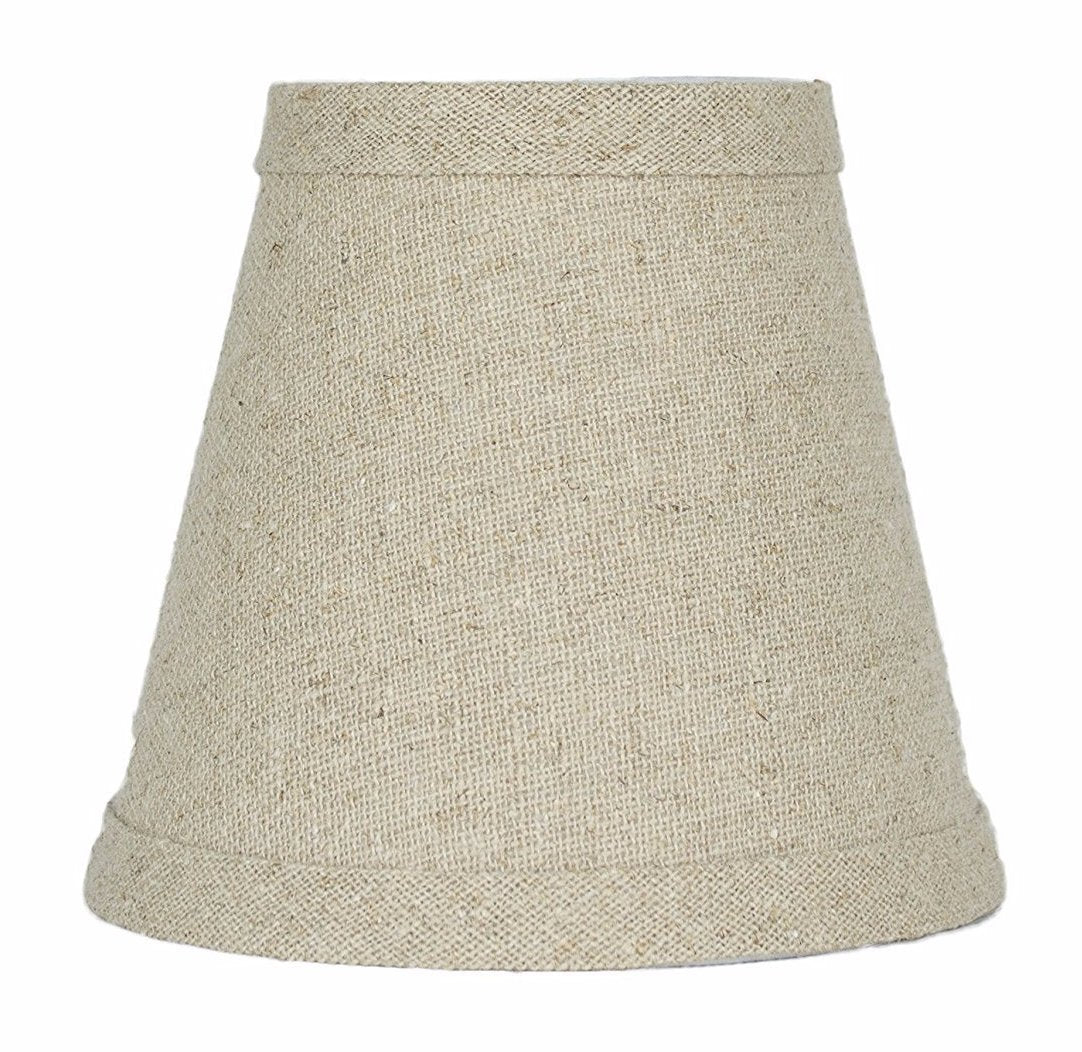 Natural Pure Linen 5-inch Chandelier Lamp Shade