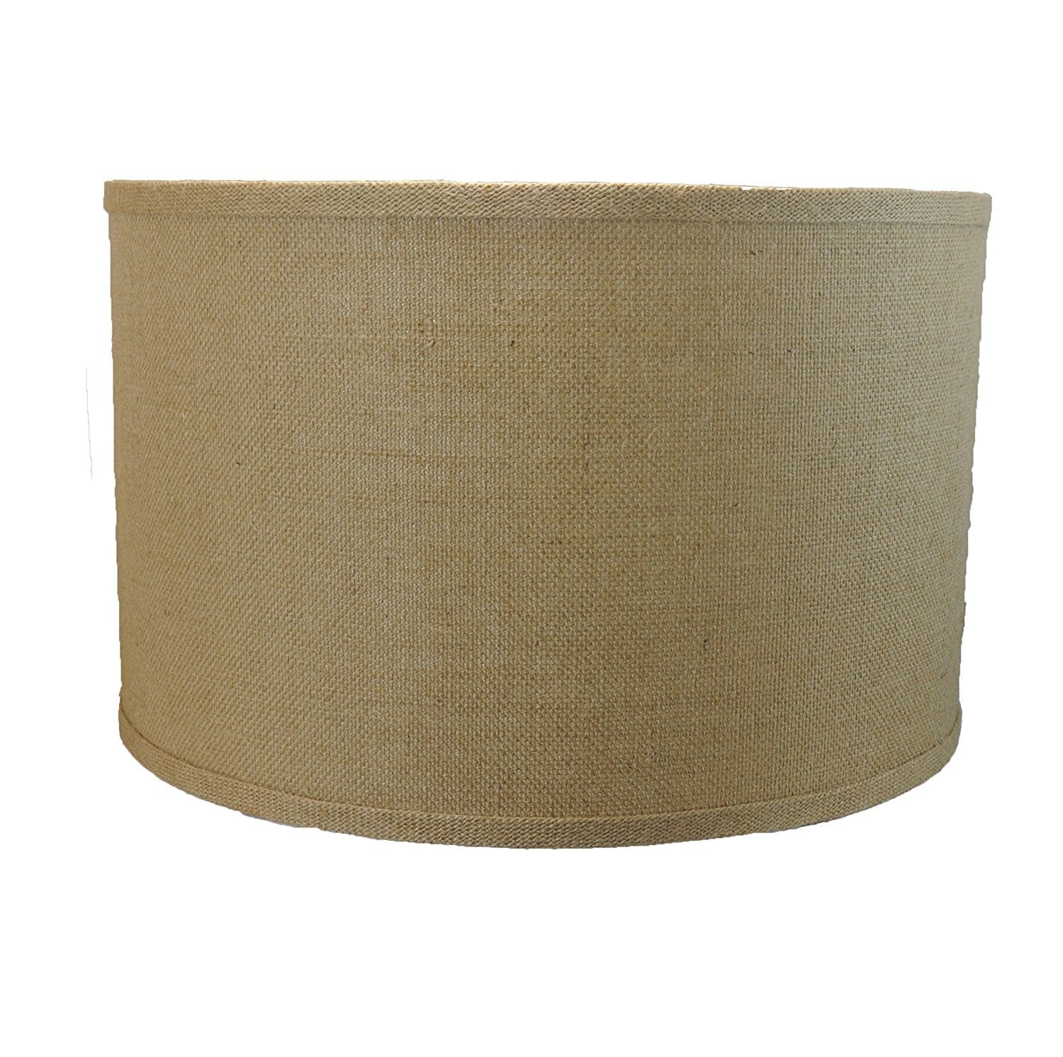"Burlap Drum Lamp Shade, 16x16x10"", Spider"
