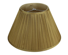 Mushroom Pleated Softback 16-inch Faux Silk Lamp Shade - 5 Colors