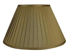 Softback Faux Silk Empire Side Pleat 16-inch Lamp Shade - 4 Colors