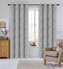 Jacquard Scroll Set of 2 Curtain Panels with Grommets - 4 Colors