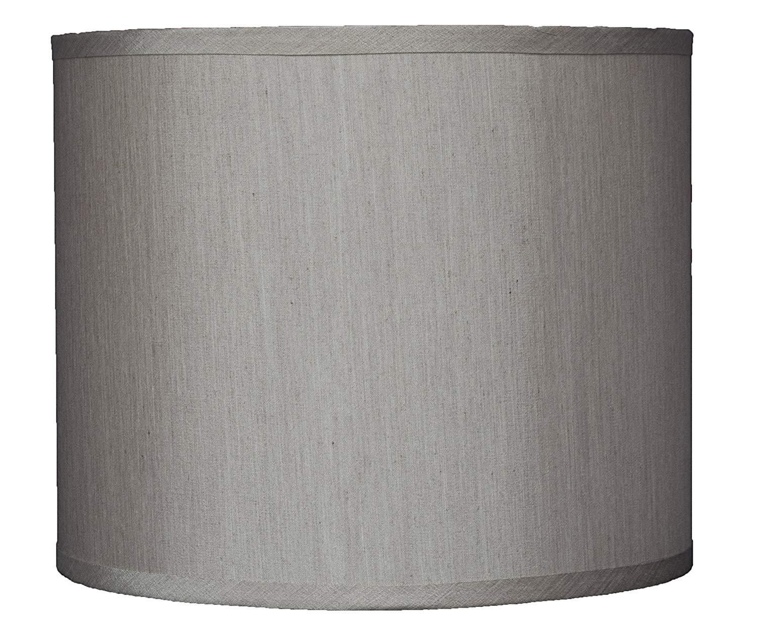 Faux Silk Drum Lampshade, 12-inch By 12-inch By 10-inch, Spider Fitter