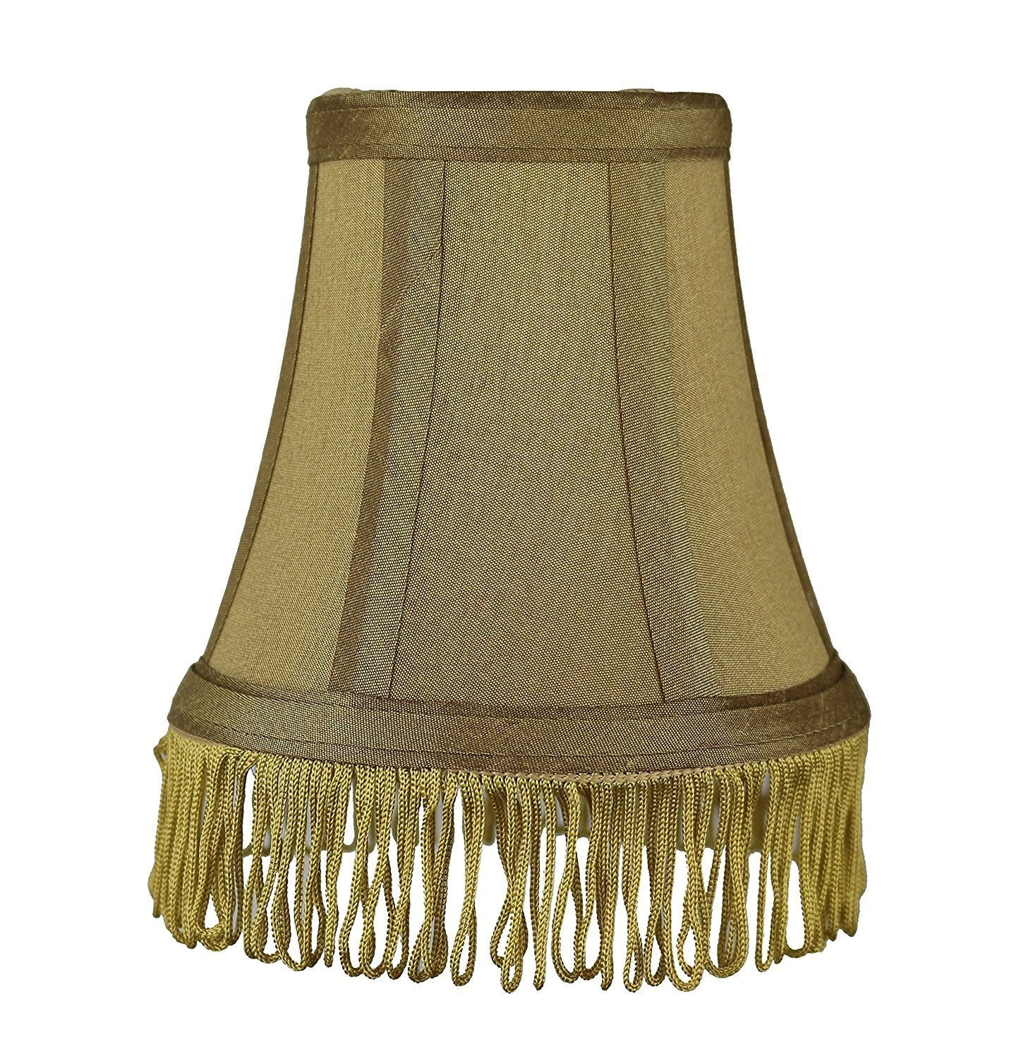 Silk Bell 5 Inch Chandelier Lamp Shade With Fringe   6 Colors