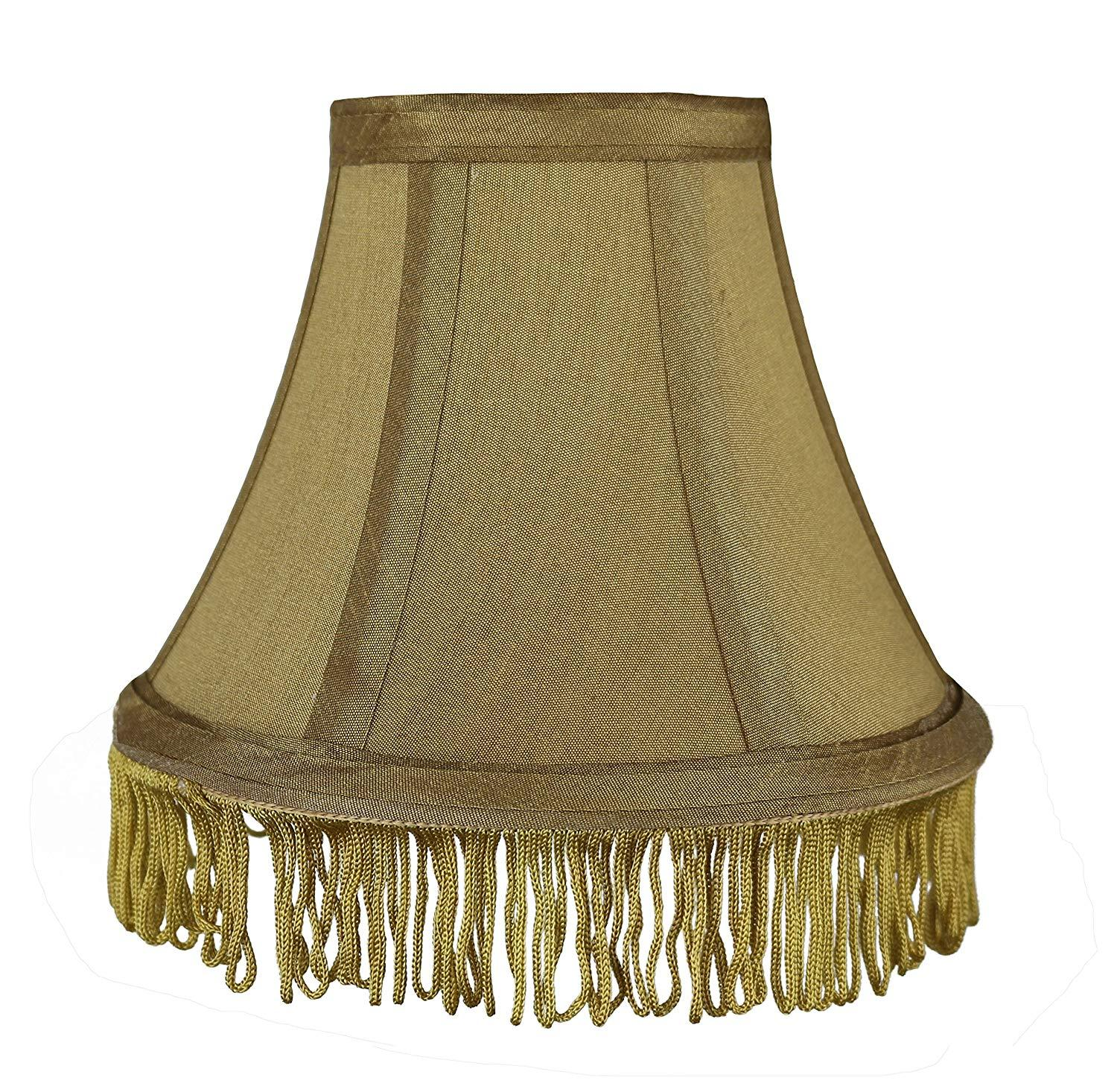 Urbanest Silk Bell Lamp Shade With Fringe Spider Fitter